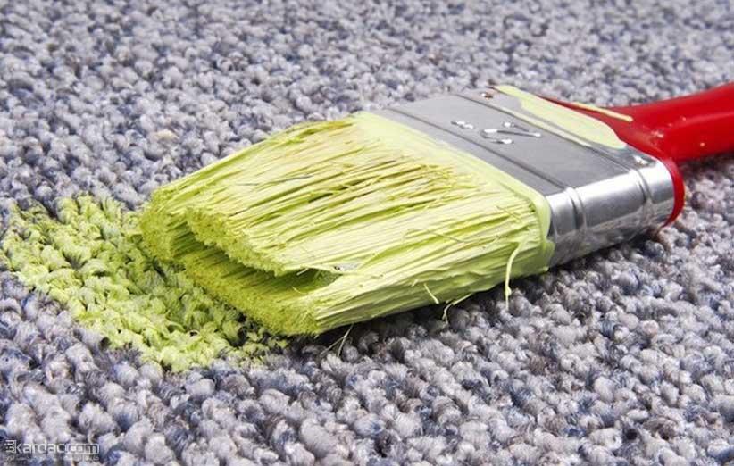 چگونه لکه های رنگ را از روی لباس،فرش و مبل خانه پاک کنیم ؟