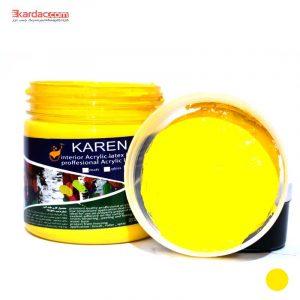 مادر رنگ اکریلیک زرد کارن حجم 300 گرمی