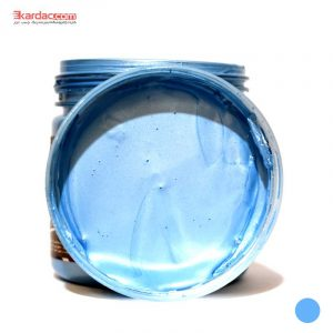رنگ اکریلیک نقره آبی صدفی کارن حجم 300 گرمی