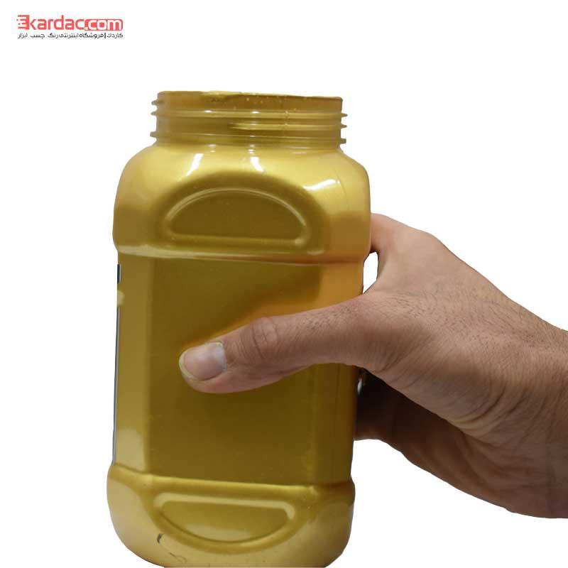 رنگ اکریلیک طلایی خیلی روشن صدفی کارن حجم 1 کیلوگرم
