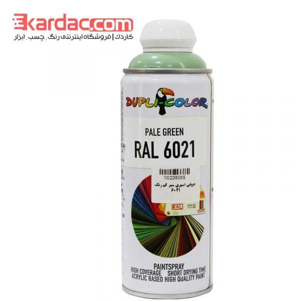 اسپری رنگ سبز کم رنگ دوپلی کالر مدل Pale Green رال 6021