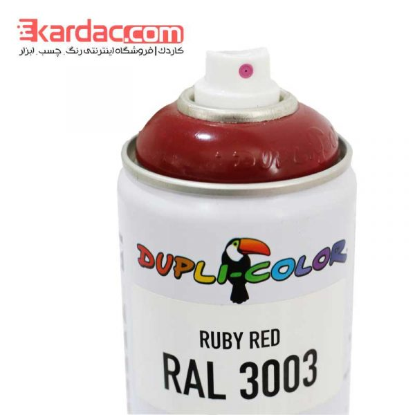 اسپری رنگ قرمز شرابی دوپلی کالر مدل Ruby Red رال 3003